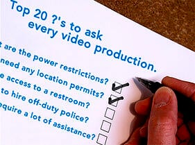 questions to ask every corporate video production